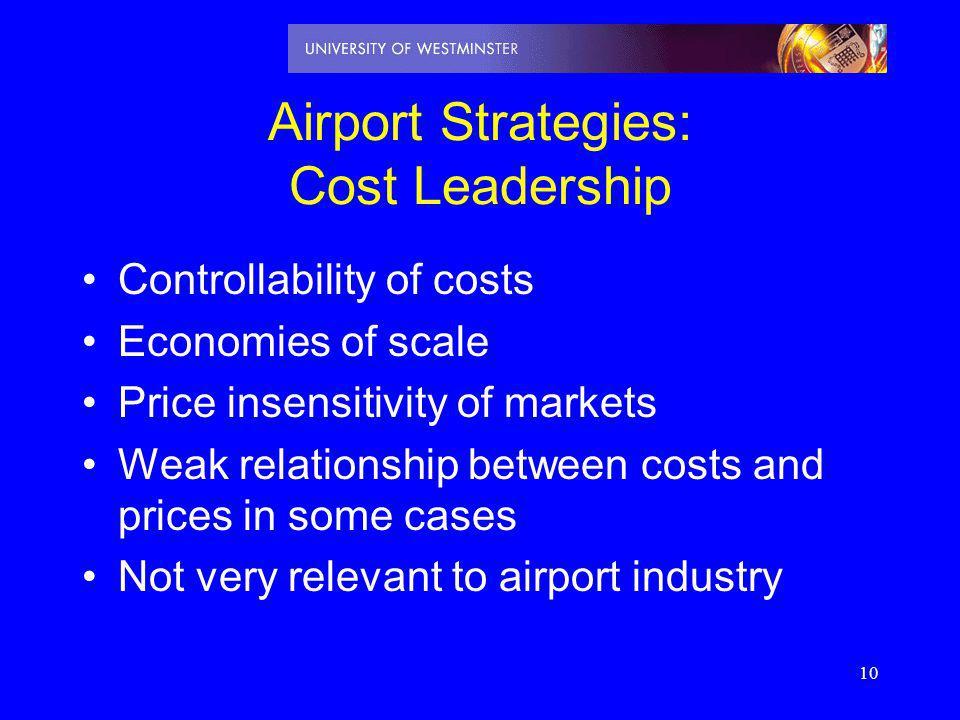 Airport Strategies: Cost Leadership