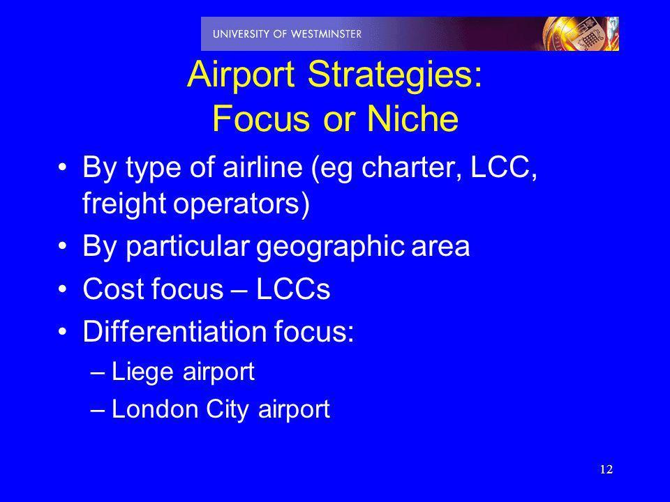 Airport Strategies: Focus or Niche