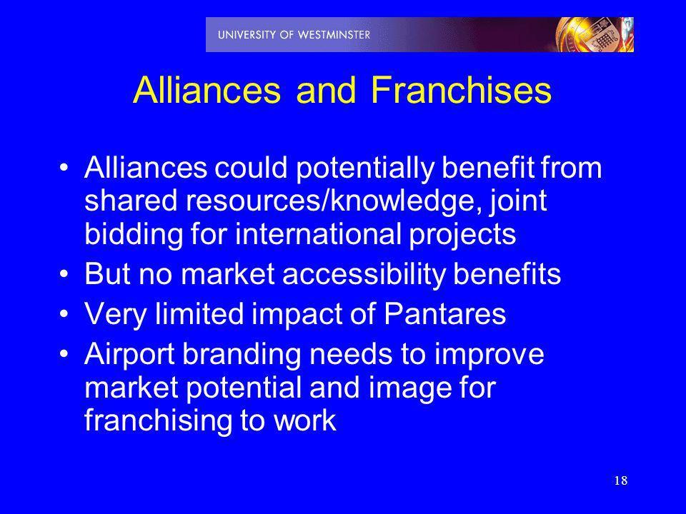 Alliances and Franchises
