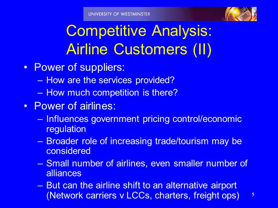 Competitive Analysis: Airline Customers (II)
