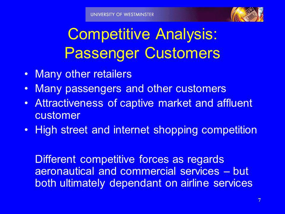 Competitive Analysis: Passenger Customers