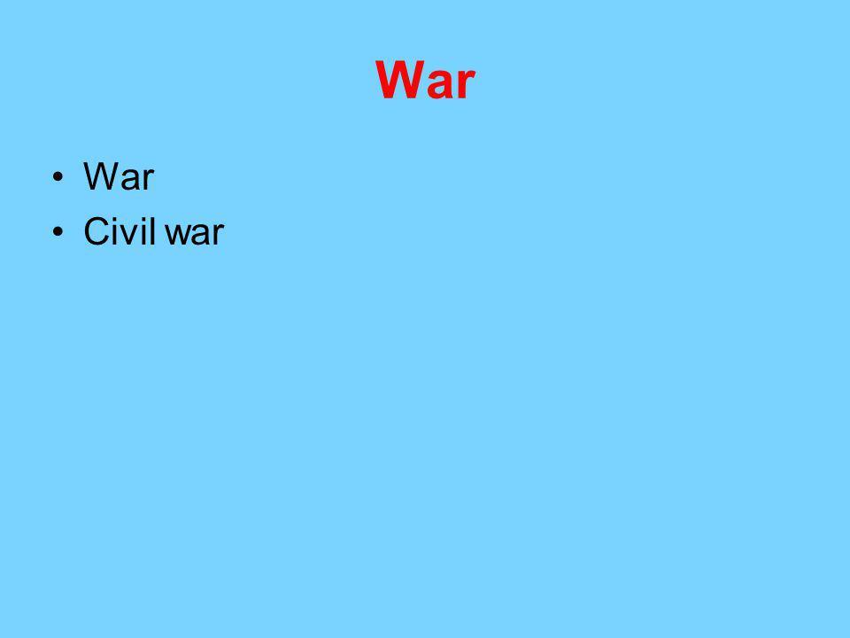 War War Civil war