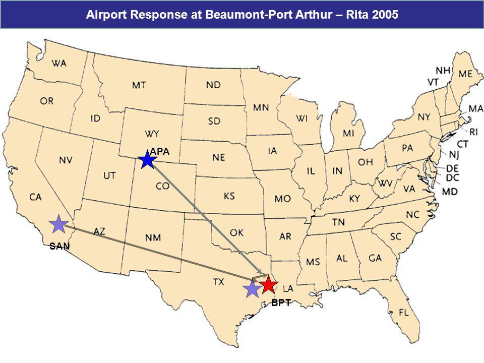 Airport Response at Beaumont-Port Arthur – Rita 2005