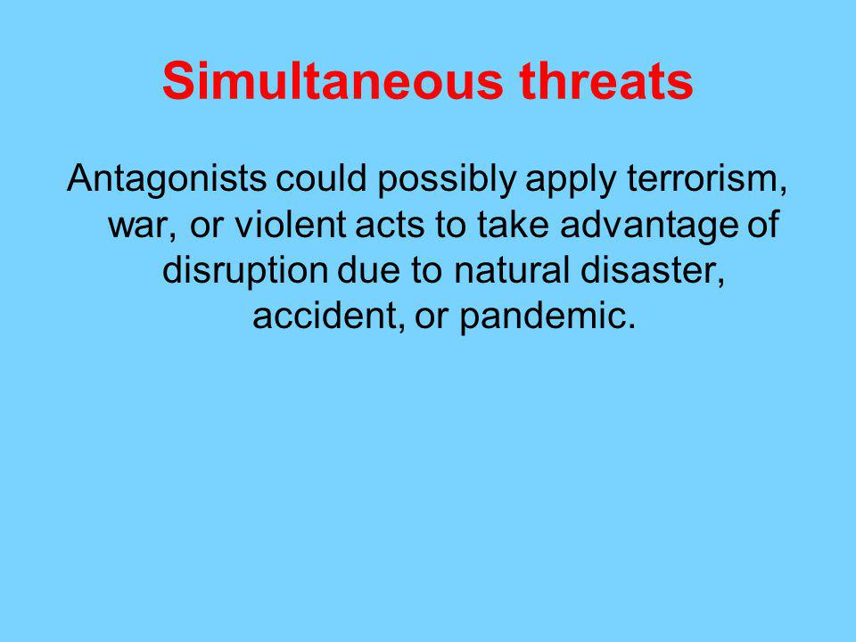 Simultaneous threats