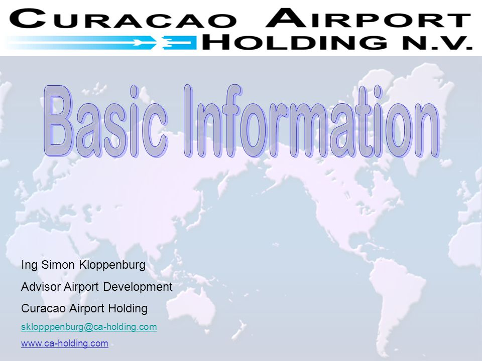 Basic Information Ing Simon Kloppenburg Advisor Airport Development