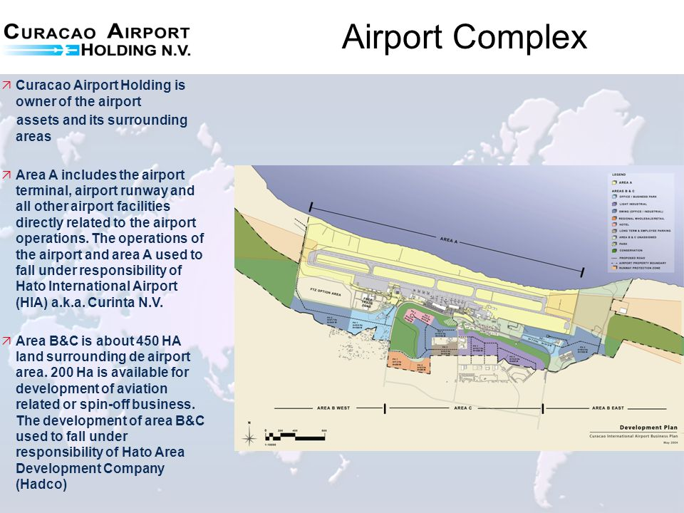 Airport Complex Curacao Airport Holding is owner of the airport