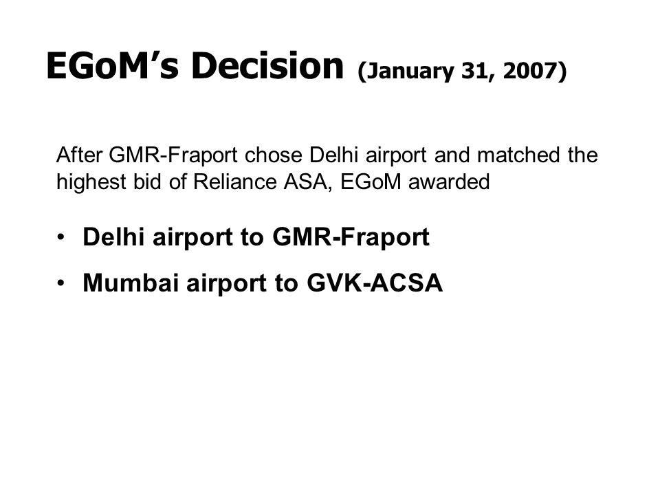 EGoM's Decision (January 31, 2007)