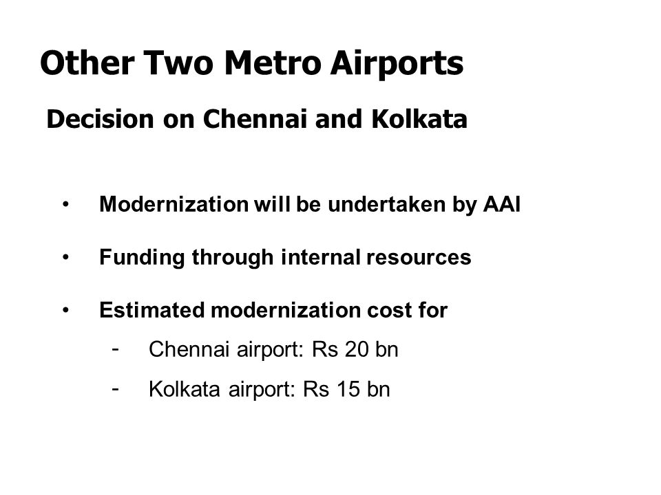 Other Two Metro Airports