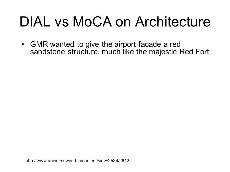 DIAL vs MoCA on Architecture