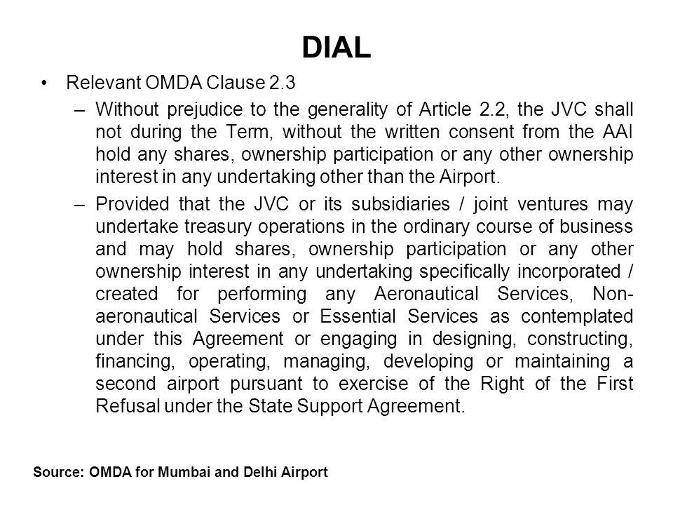 Source: OMDA for Mumbai and Delhi Airport