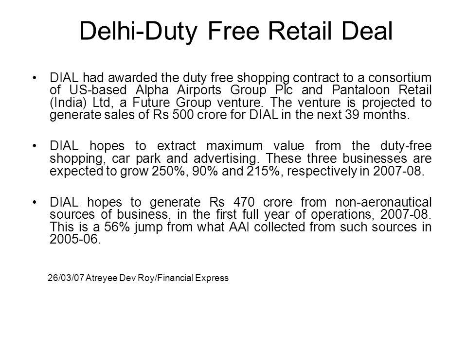 Delhi-Duty Free Retail Deal