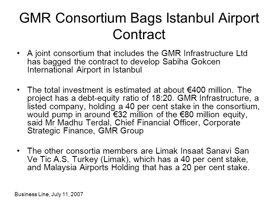 GMR Consortium Bags Istanbul Airport Contract