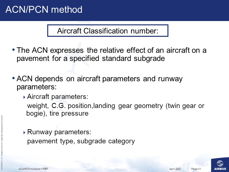 Aircraft Classification number: