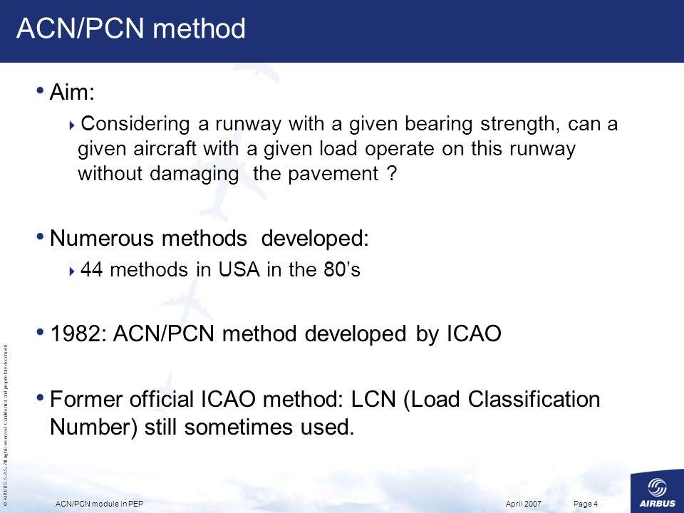 ACN/PCN method Aim: Numerous methods developed:
