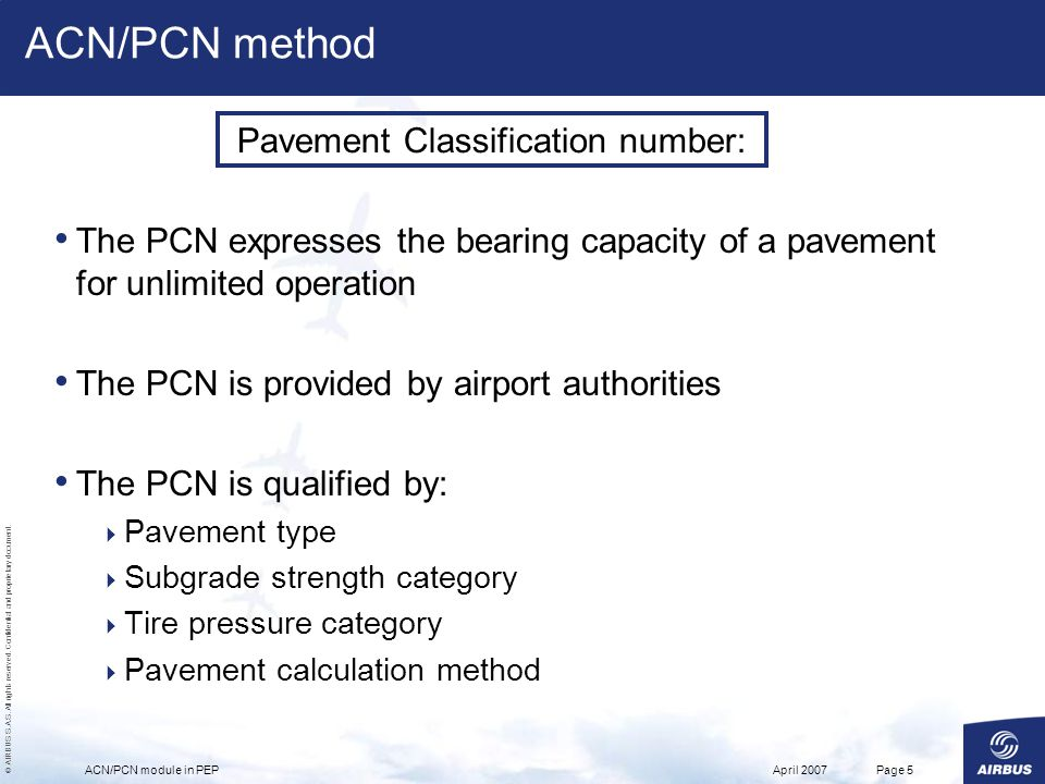 Pavement Classification number: