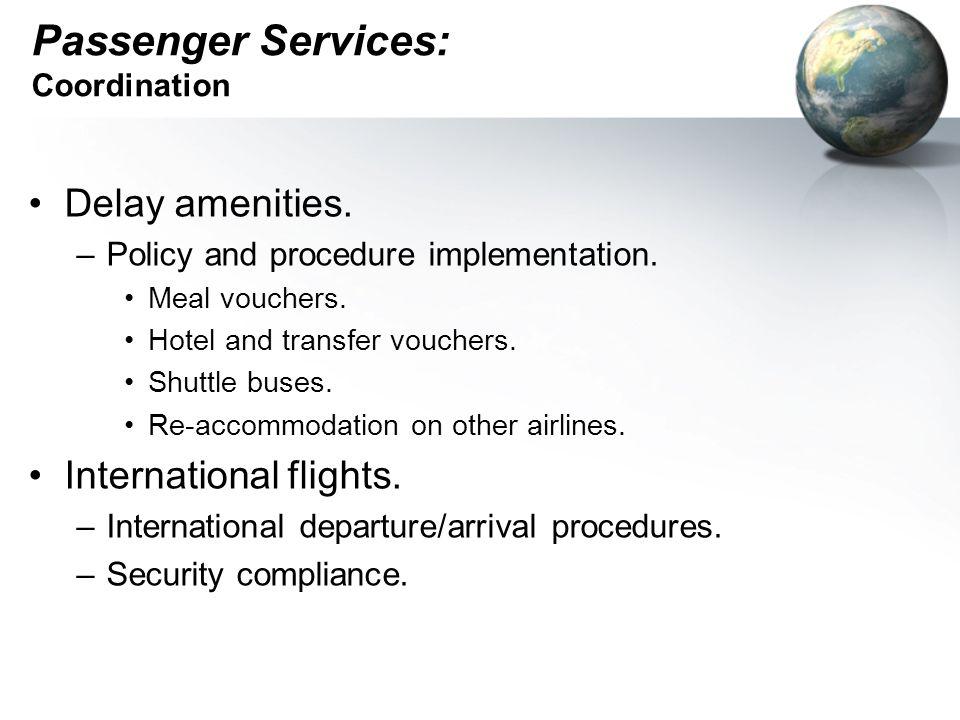 Passenger Services: Coordination