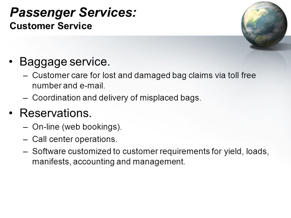 Passenger Services: Customer Service