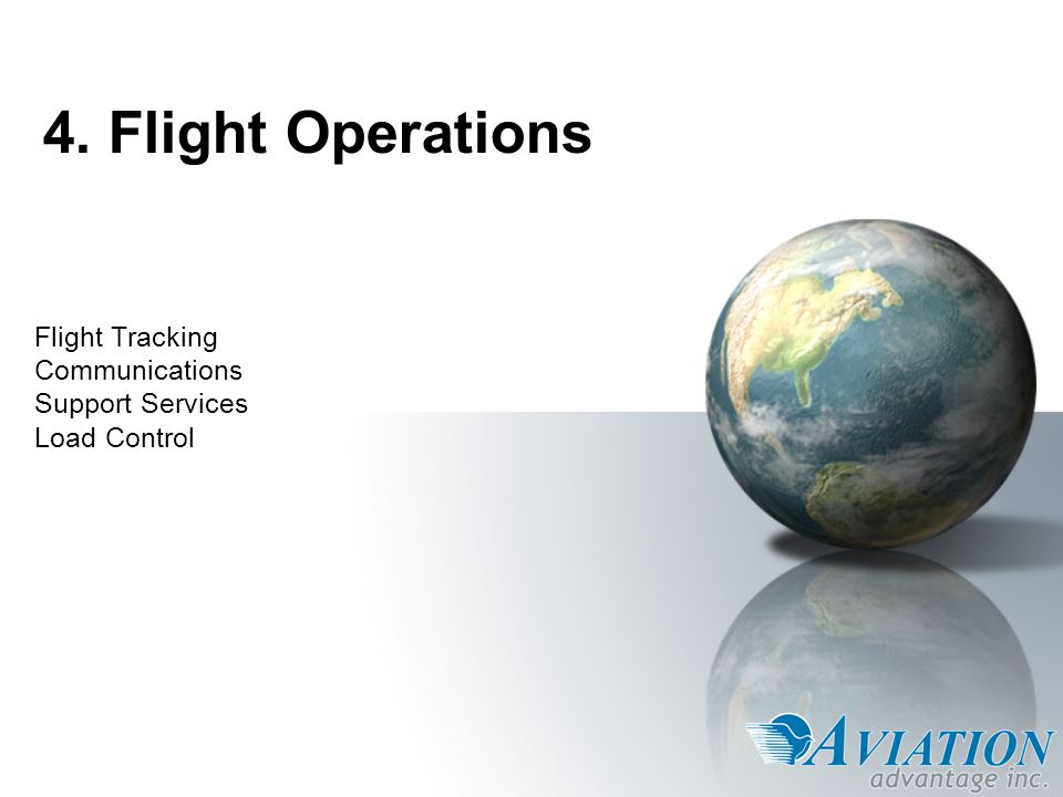 Flight Tracking Communications Support Services Load Control