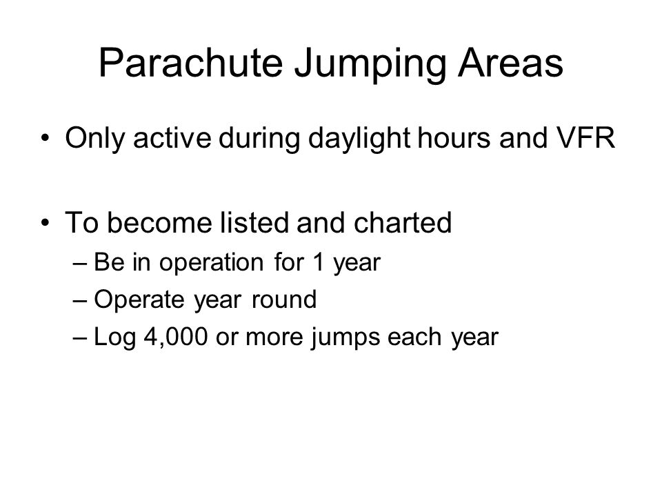 Parachute Jumping Areas