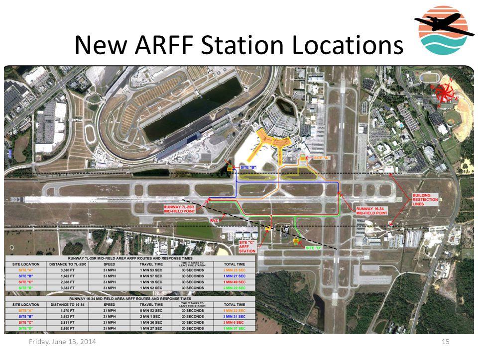 New ARFF Station Locations