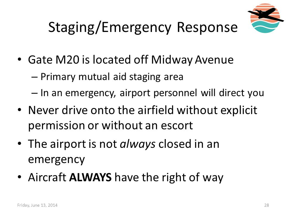 Staging/Emergency Response