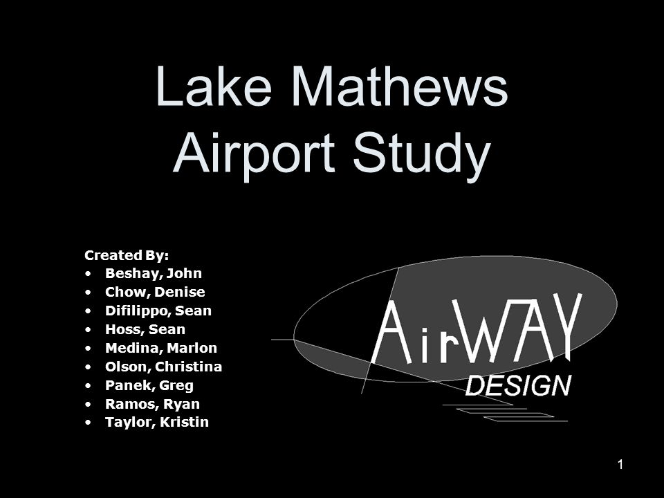 Lake Mathews Airport Study
