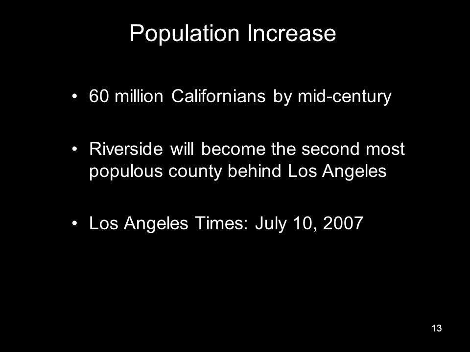 Population Increase 60 million Californians by mid-century