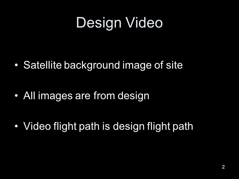 Design Video Satellite background image of site