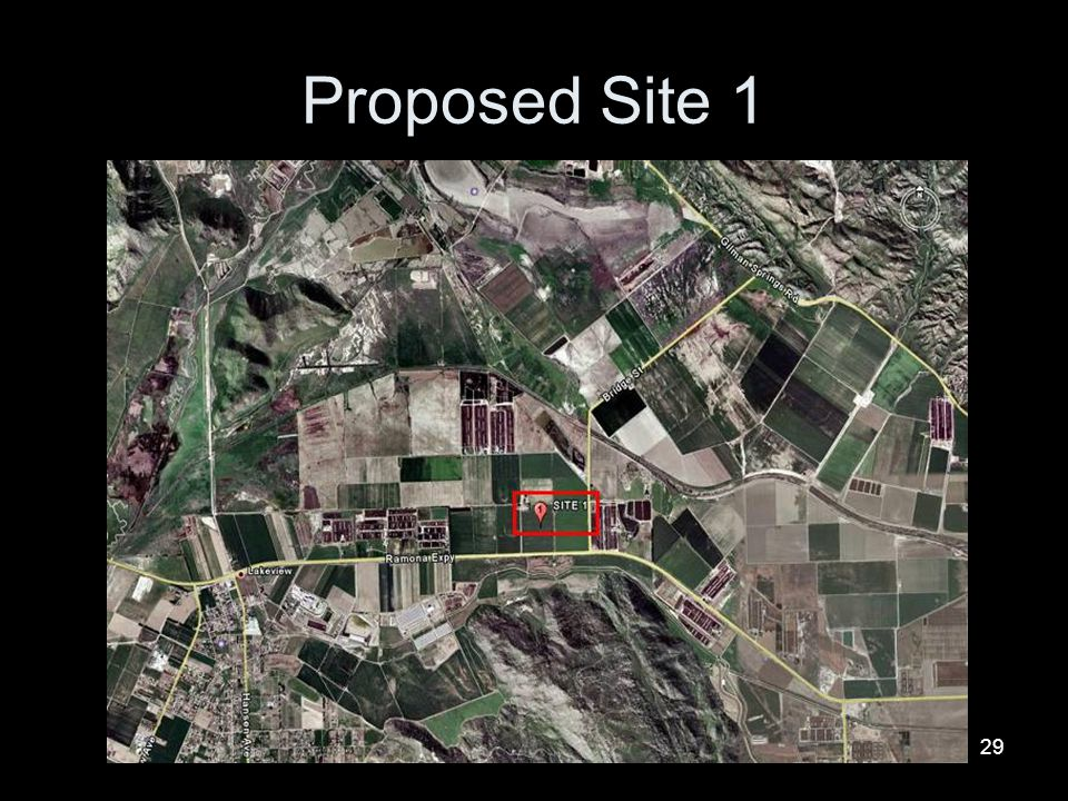 Proposed Site 1
