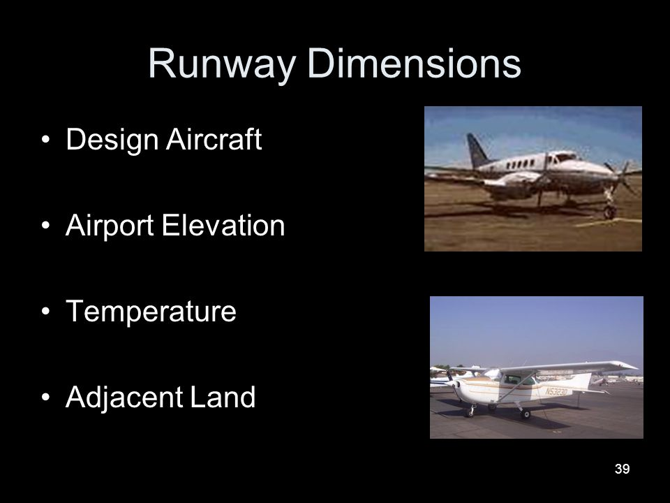 Runway Dimensions Design Aircraft Airport Elevation Temperature