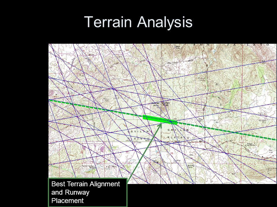 Terrain Analysis Best Terrain Alignment and Runway Placement