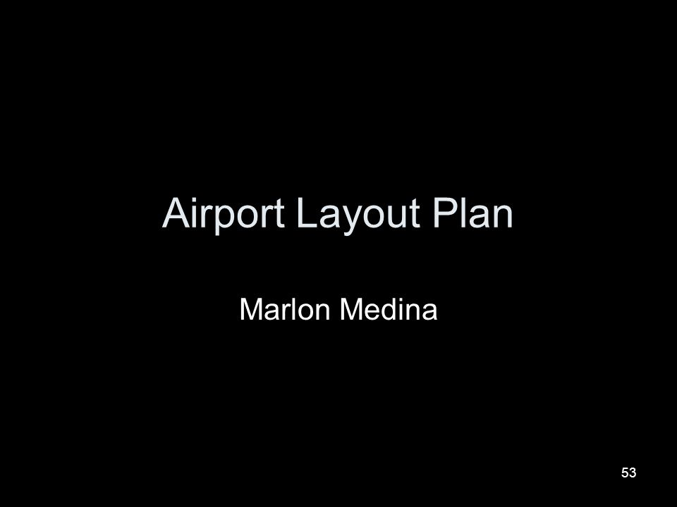 Airport Layout Plan Marlon Medina
