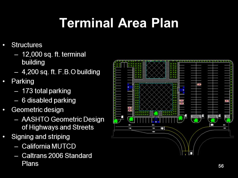 Terminal Area Plan Structures 12,000 sq. ft. terminal building