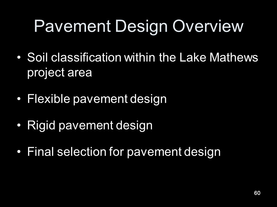 Pavement Design Overview