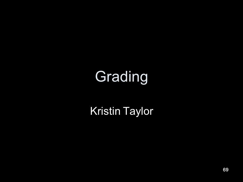 Grading Kristin Taylor