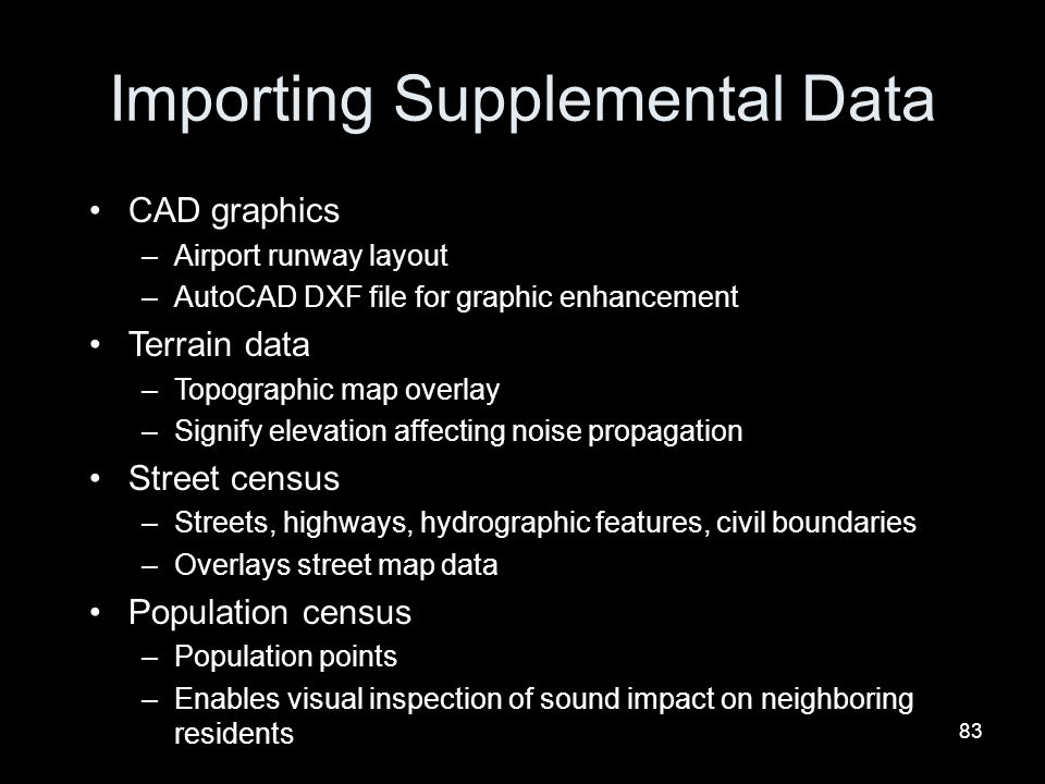 Importing Supplemental Data