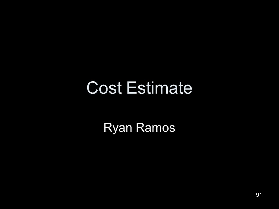 Cost Estimate Ryan Ramos