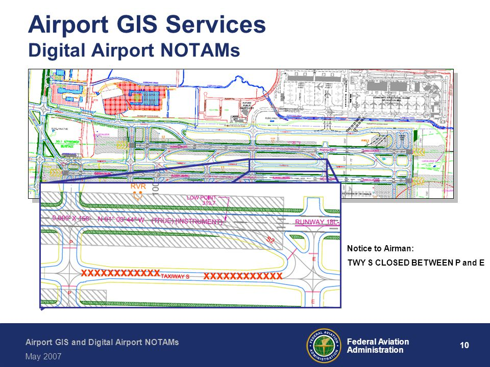 Airport GIS Services Digital Airport NOTAMs