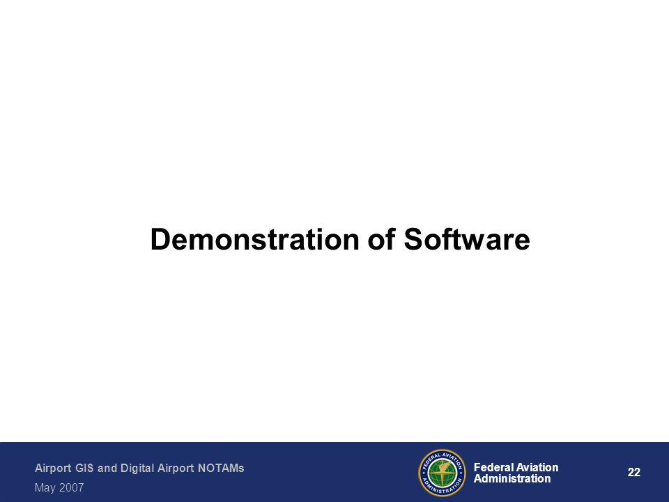 Demonstration of Software