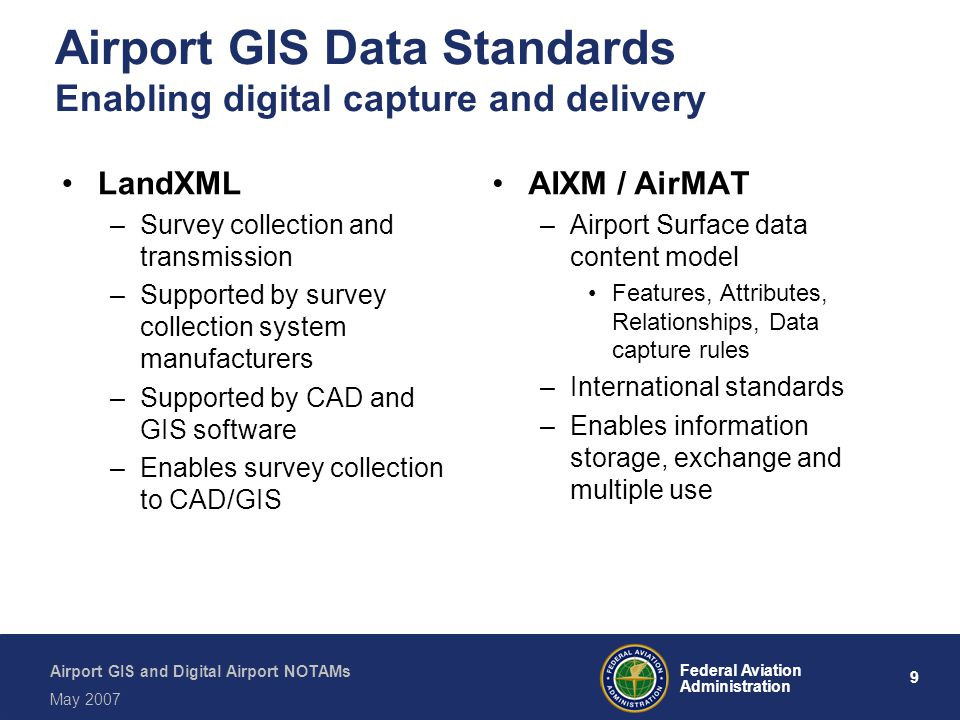 Airport GIS Data Standards Enabling digital capture and delivery