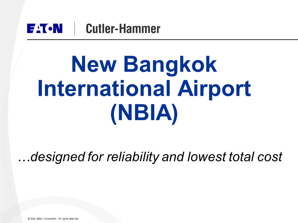 New Bangkok International Airport (NBIA)