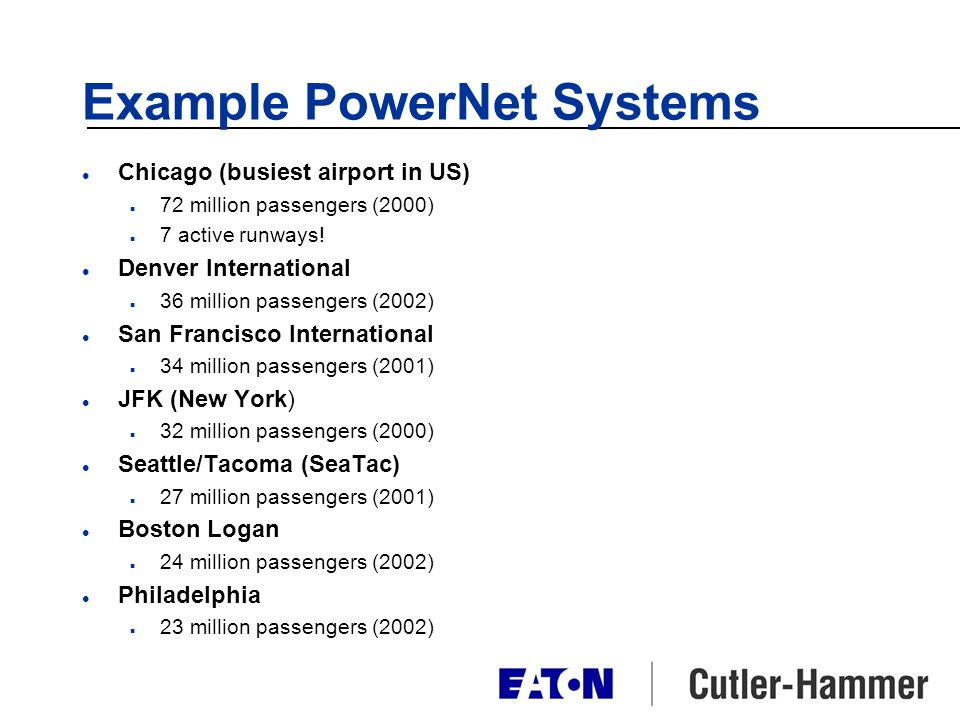 Example PowerNet Systems