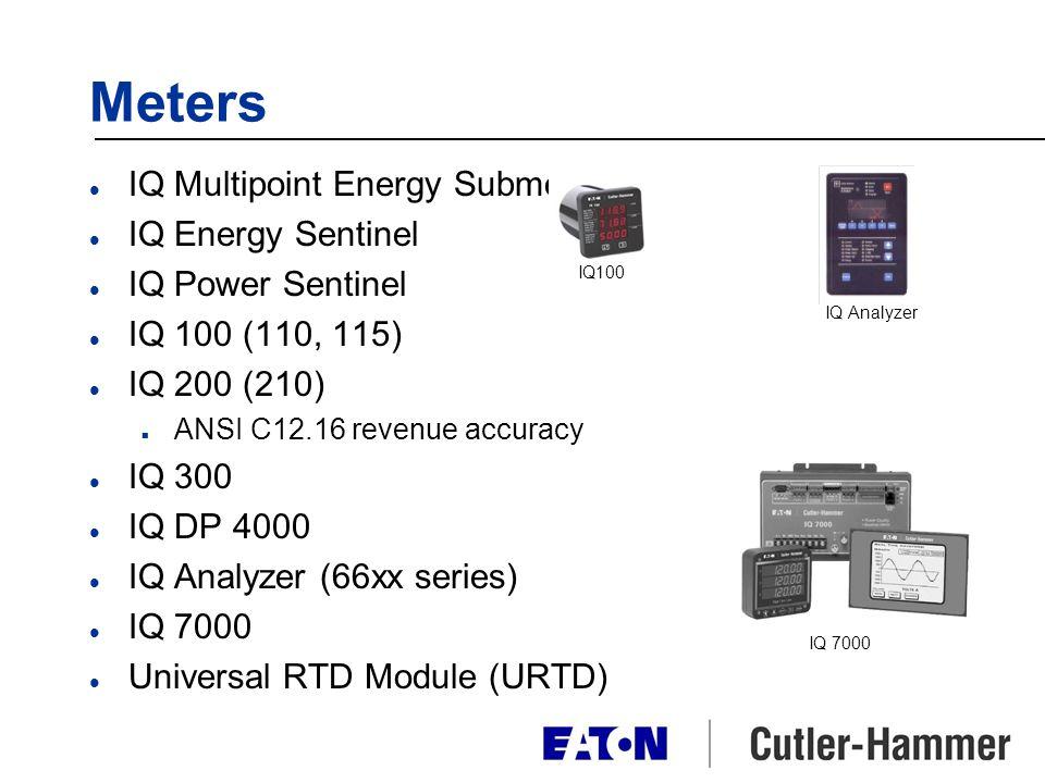 Meters IQ Multipoint Energy Submeter IQ Energy Sentinel
