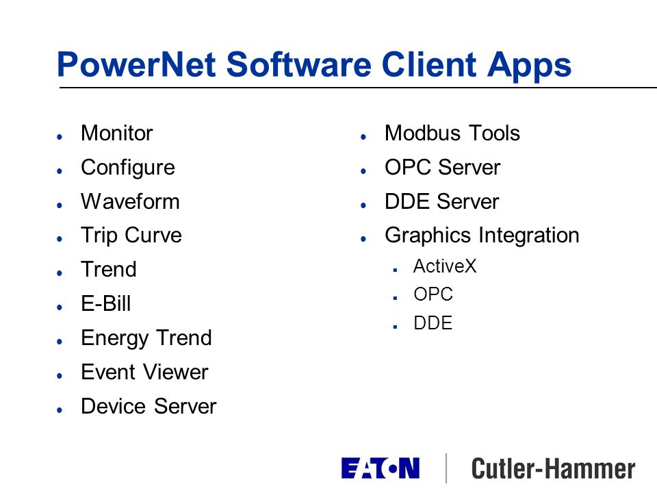 PowerNet Software Client Apps