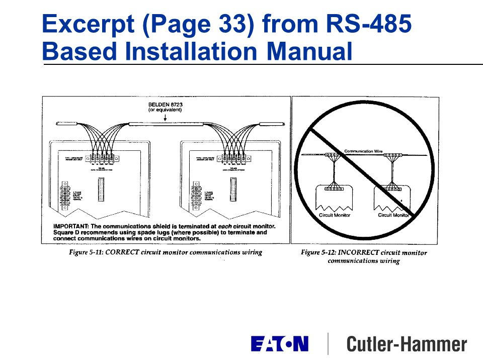 Excerpt (Page 33) from RS-485 Based Installation Manual