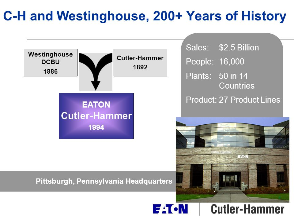 C-H and Westinghouse, 200+ Years of History