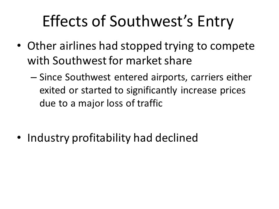 Effects of Southwest's Entry