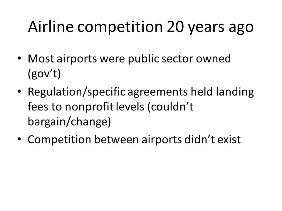 Airline competition 20 years ago