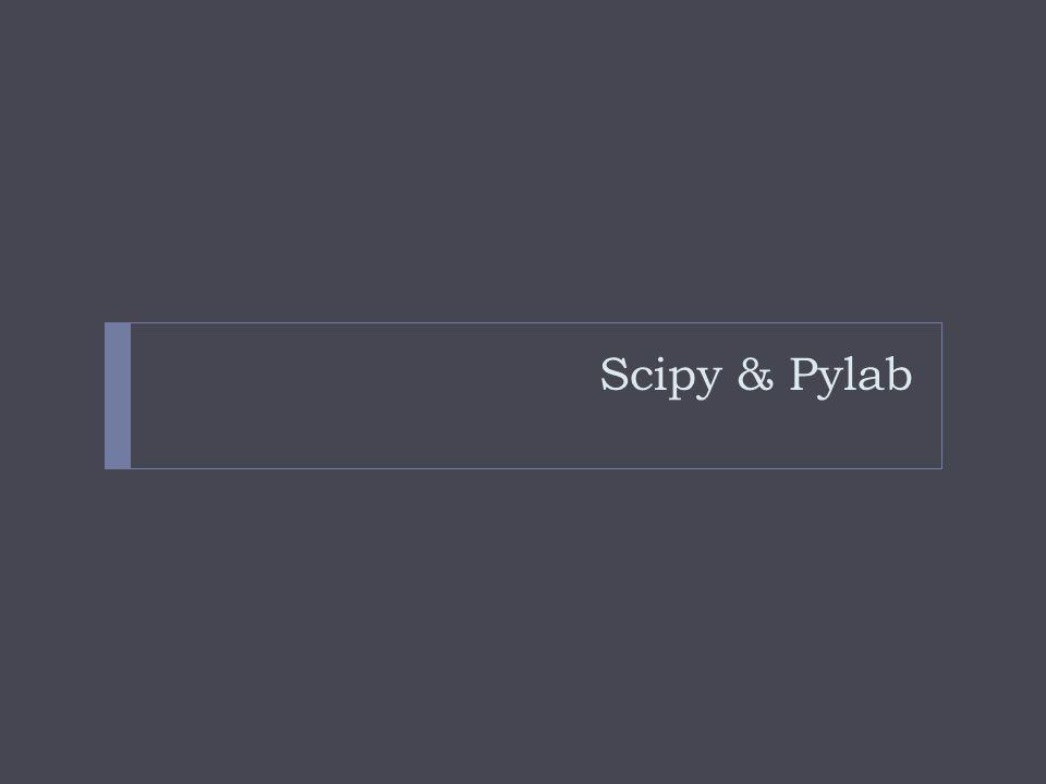 Scipy & Pylab