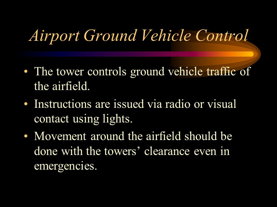 Airport Ground Vehicle Control